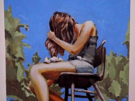 Josef Kleiner: Na slunci, 2011, akryl na plátně, 120 x 80