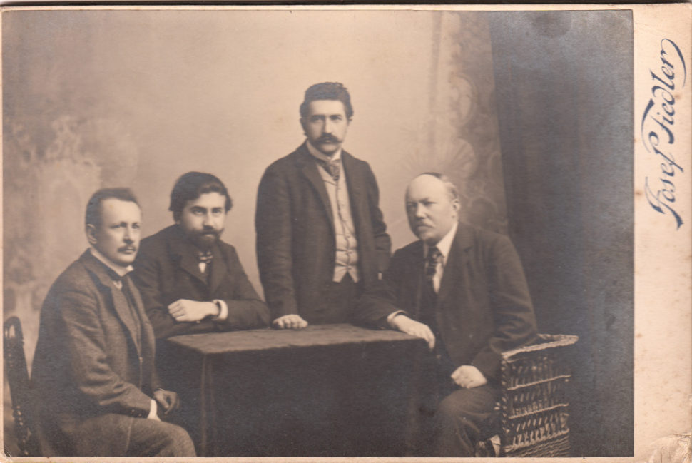 České kvarteto, cca 1910 Hoffmann, Herold, Suk, Wihan